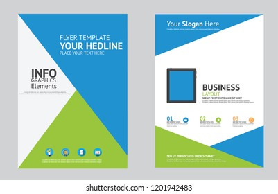 business flyer modern and creative vector template