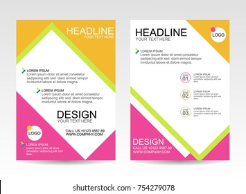 Business flyer pamphlet brochure cover template with A4 size Abstract vector background