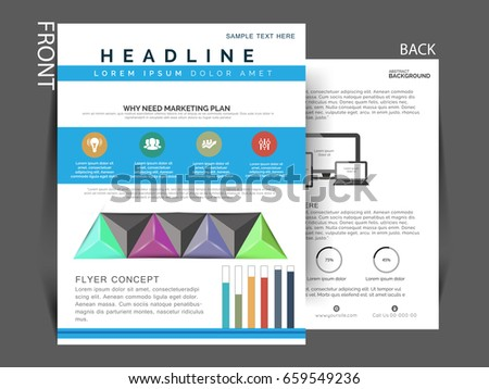 business flyer business single pager vector のベクター画像素材