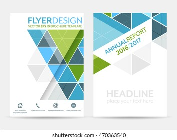Business flyer template, brochure or corporate banner with geometric pattern/vector illustration/A4 size.