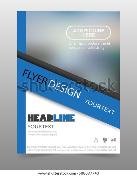 Business flyer template. Can be use for publishing, print and presentation. Vector. Eps 10