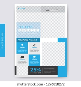Business Flyer template. cover modern layout, annual report, poster, flyer in A4 with colorful triangles, geometric shapes for tech, market with light background.