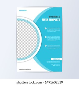 Business Flyer Template Modern Design new trend vector