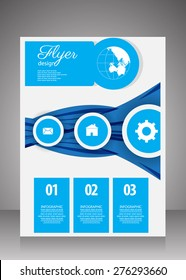 Business Flyer.brochure template. vector