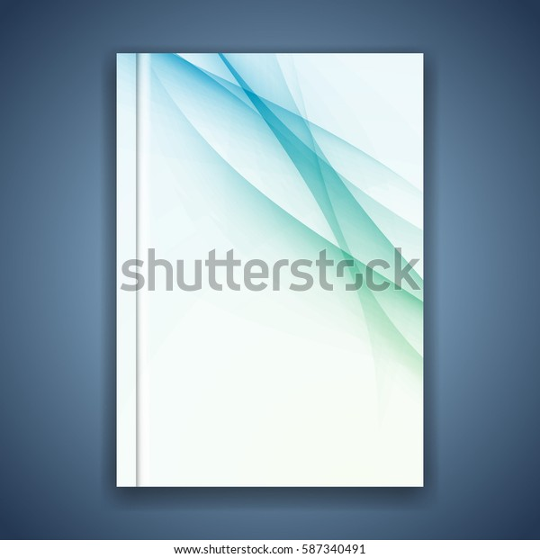 Business folder cover conceptual layout. Vector illustration