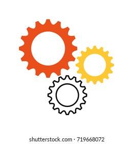 business gears mechanical solution teamwork concept
