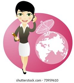 business girl on the phone, communications concepts