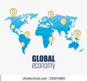 Business and global economy icon graphic design, vector illustration.