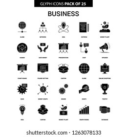 Business Glyph Vector Icon set