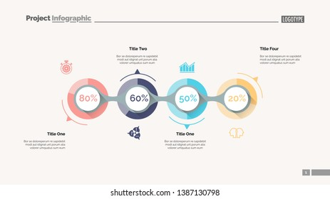 Business goal achievement slide template. Business data. Graph, diagram, design. Creative concept for infographic, report. Can be used for topics like stages, statistics, performance