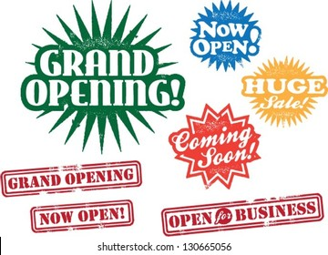 Business Grand Opening Stamps