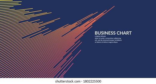 Graphique d'entreprise sur fond blanc. Analystes graphiques de la croissance et de la baisse des bénéfices. Illustration vectorielle.