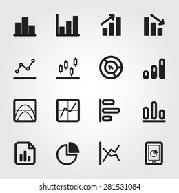business graph vector icons