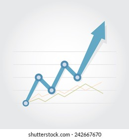 Business Graph , Vector illustration eps10