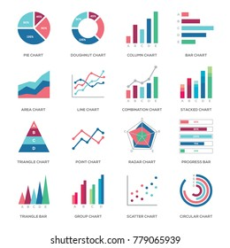 Business graphic data icon illustration