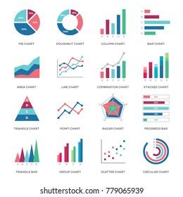 Business graphic data icon illustration