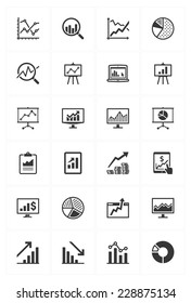 Business Graphs & Charts Icons