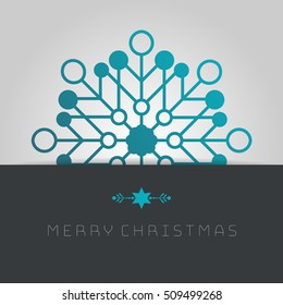 Business greeting christmas card. Template snowflakes.
