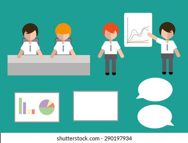 Business Group Set Vector