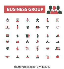 business group, workforce, team, businessman, discussion, job, human resources, leader, community, partnership, member, management, employee, organization, workplace, communication icons