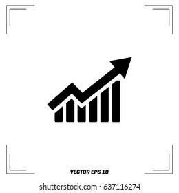 business growing graph icon