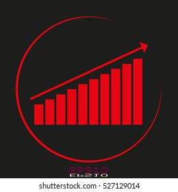 business growth chart vector icon, eps10