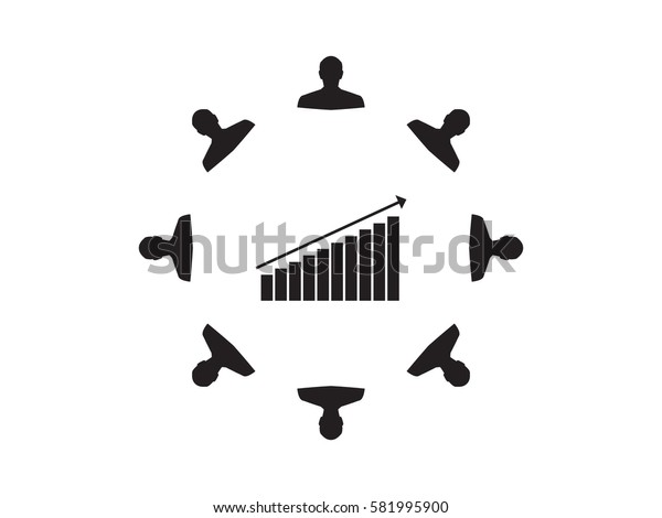 business growth,  man, icon, vector illustration eps10
