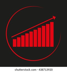business growth, vector illustration