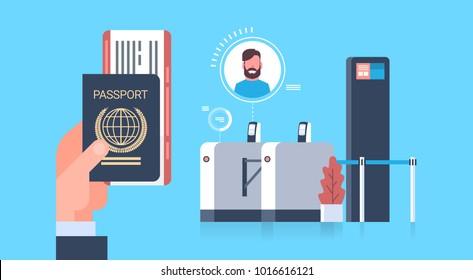 Passport Scanner Stock Illustrations, Images & Vectors