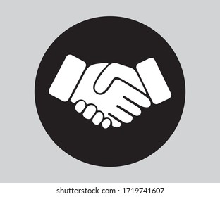 Business Hand Shake Icon, Vector Design