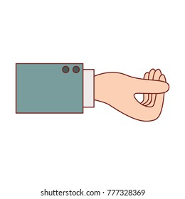 business hand side view gesture get in colorful silhouette