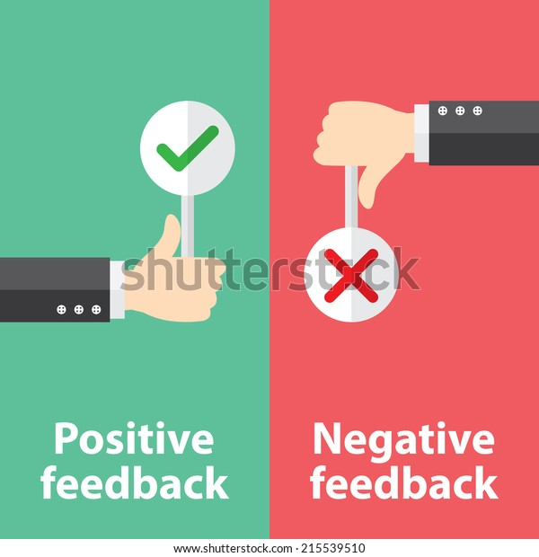 Business hand thumb up with true and false sign. Vector illustration of positive and negative feedback concept. Minimal and flat design