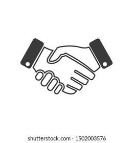 Business handshake icon template color editable. contract agreement symbol vector sign isolated on white background illustration for graphic and web design.