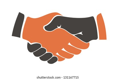 Business handshake. Jpeg (bitmap) version also available in gallery