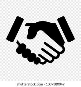 Business handshake silhouette vector icon