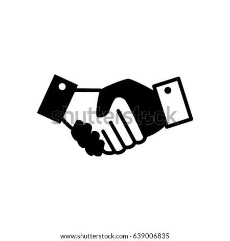 Business Handshake Symbol Stock Vector Royalty Free 639006835