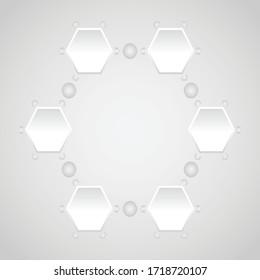 Business hexagon infographic bar design. creative idea. vector illustration