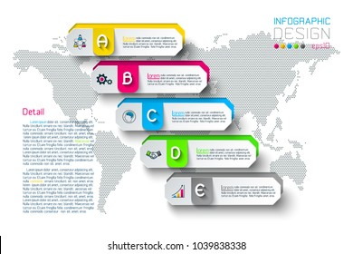 Business hexagon labels shape infographic groups bar.