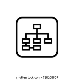 Business hierarchy pictogram. Development and advancement outline vector icon.
