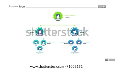 Business Hierarchy Slide Template Stock Vector Royalty Free