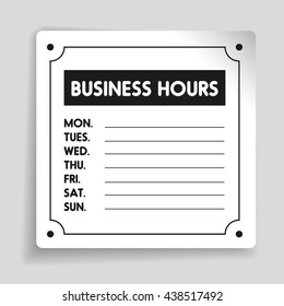 business hours sign images stock photos vectors shutterstock