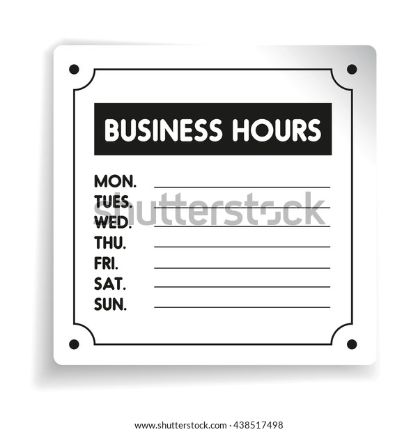 It's just a picture of Office Hours Sign Template inside pdf