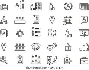 Business, Human Resources & Management icons set