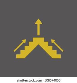 Business  icon. Flat design.