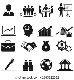 Business icon. Human resources and management vector set.