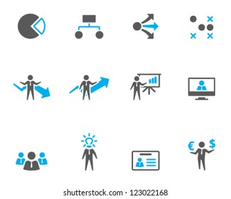 Business icon series in duo tone style