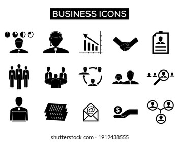 business icon set collection. business vector collection