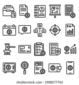 business icon set perfect for website, user interface, app, financial, finace technology, mobile app, etc. editable stroke