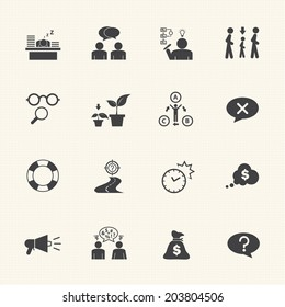 Business icon set, Personality traits