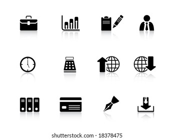 Business icon set from series